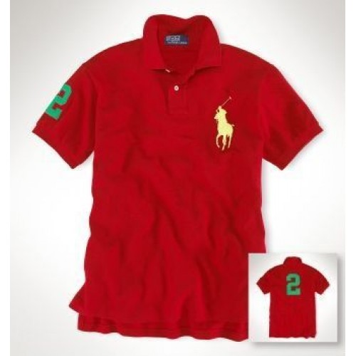 Ralph Lauren New red number 2 classic polo shirt For Men